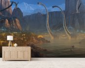 Ancient Jurassic Coast wallpaper mural living room preview