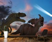 Dinosaurs Battle as the Comet Approaches wall mural kitchen preview