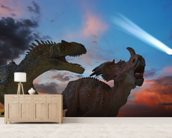 Dinosaurs Battle as the Comet Approaches wall mural living room preview