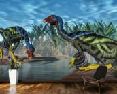 Caudipteryx Dinosaur wallpaper mural kitchen preview