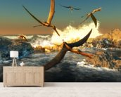 Anhanguera Fishing mural wallpaper living room preview
