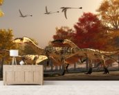 Coelophysis Hunting wall mural living room preview