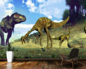 Tyrannosaurus Rex Attacking wallpaper mural kitchen preview