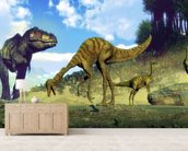 Tyrannosaurus Rex Attacking wallpaper mural living room preview