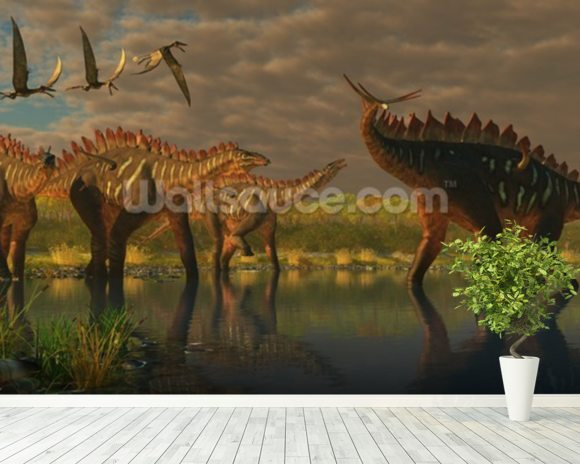 Miragaia Dinosaurs wallpaper mural room setting