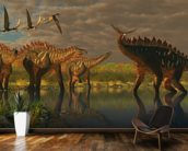 Miragaia Dinosaurs wallpaper mural kitchen preview