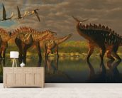 Miragaia Dinosaurs wallpaper mural living room preview