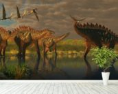 Miragaia Dinosaurs wallpaper mural in-room view