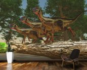 Hypsilophodon Dinosaurs mural wallpaper kitchen preview