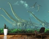 Mamenchisaurus Dinosaur Travels wall mural kitchen preview