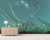 Mamenchisaurus Dinosaur Travels wall mural living room preview