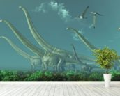 Mamenchisaurus Dinosaur Travels wall mural in-room view