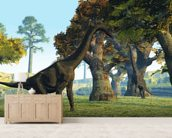 Brachiosaurus wallpaper mural living room preview