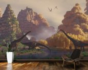 Sauroposeidon Dinosaurs mural wallpaper kitchen preview