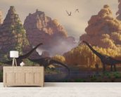 Sauroposeidon Dinosaurs mural wallpaper living room preview