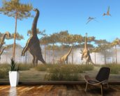 Brachiosaurus Browsing wall mural kitchen preview