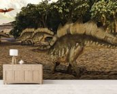 Stegosaurus wallpaper mural living room preview