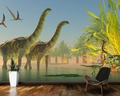 Argentinosaurus in Lake wall mural kitchen preview