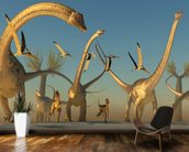 Diplodocus Dinosaur Journey wallpaper mural kitchen preview