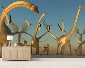 Diplodocus Dinosaur Journey wallpaper mural living room preview