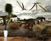 Utahraptor Hunt wall mural kitchen preview
