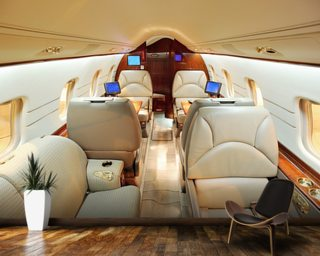 Interior of Luxury Jet wallpaper mural