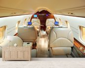 Interior of Luxury Jet wallpaper mural living room preview