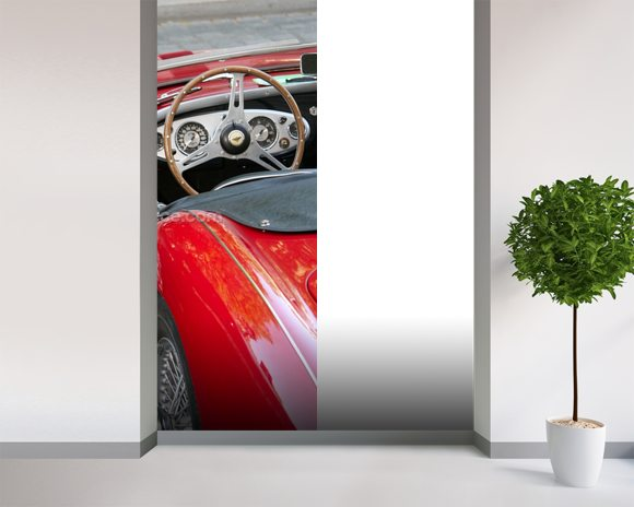 Classic Car mural wallpaper room setting