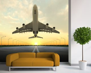 Aircraft Take Off wallpaper mural