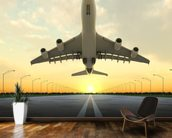 Aircraft Take Off wallpaper mural kitchen preview