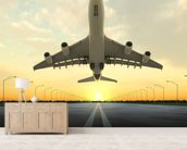 Aircraft Take Off wallpaper mural living room preview
