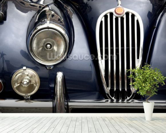 Vintage Car mural wallpaper room setting