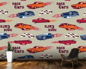 Muscle Car Illustration mural wallpaper kitchen preview