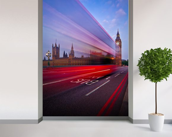 London - The Bus Lane mural wallpaper room setting
