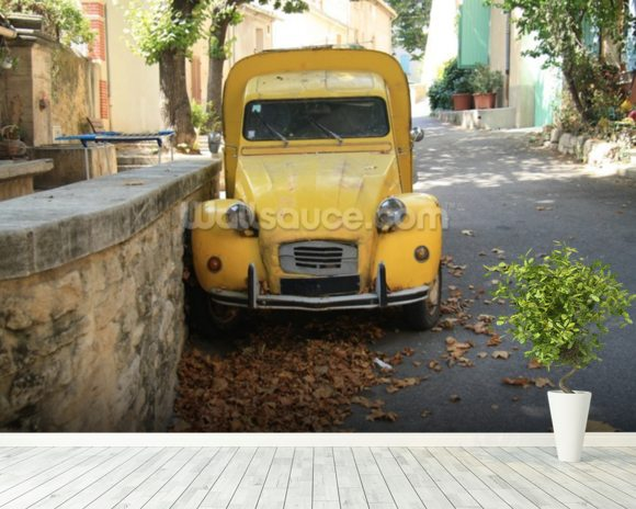 2CV Van mural wallpaper room setting