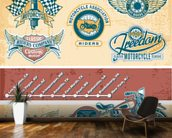 Vintage Motocycle Illustration wall mural kitchen preview