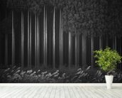 Afforestation mural wallpaper in-room view
