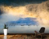 Cranes wall mural kitchen preview