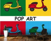Moped mural wallpaper kitchen preview