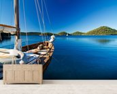 Sailing Boat wall mural living room preview