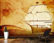 Old Sail Ship mural wallpaper kitchen preview