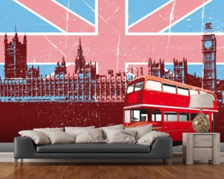 Union Jack London Wall Mural Part 80