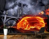 Fire Car wall mural kitchen preview