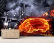 Fire Car wall mural living room preview
