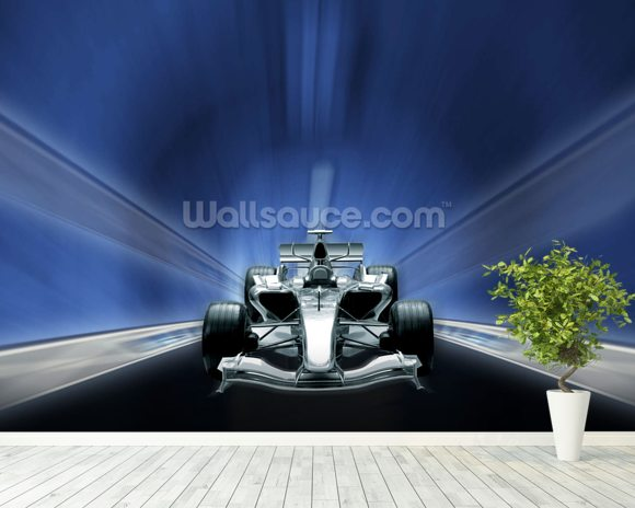 Racing car wallpaper wall mural wallsauce usa for Car mural wallpaper