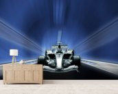 Racing Car mural wallpaper living room preview
