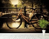 Retro Bike wall mural in-room view