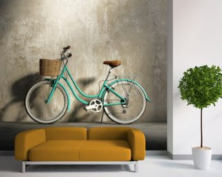 Old Green Bicycle wallpaper mural