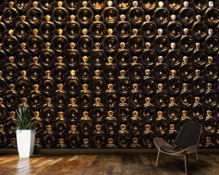 Wine Bottle Wall wall mural