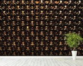 Wine Bottle Wall wall mural in-room view